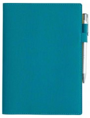AGENDE LUX PIELE ECOLOGICA KIKA TURQUOISE ZILNICE 15x21 CM LB0112TQ