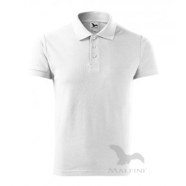 TRICOU BARBATI ALB POLO COTTON HEAVY 215-00